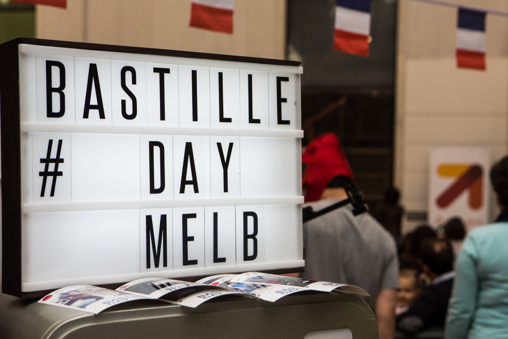 The date in french in Melbourne