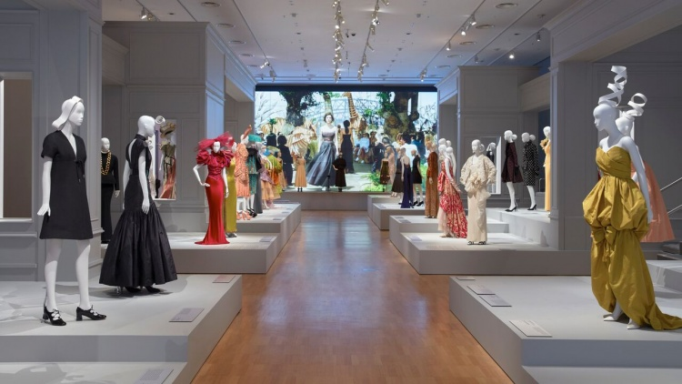 Installation view of the world-premiere exhibition The House of Dior: Seventy Years of Haute Couture at the National Gallery of Victoria, Melbourne, Australia. Photo: Sean Fennessy