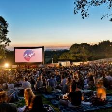 guests attend Maltesers Moonlight Cinema - Anchor Man 2 screening
