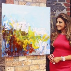 Gina Liano at bluethumb HQ in Melbourne