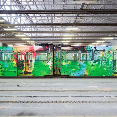 Melbourne Art Tram // Jon Cattapan