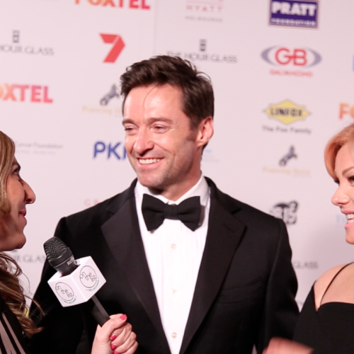 Hugh Jackman and Deb, Red Ball 2015, On The List Melbourne