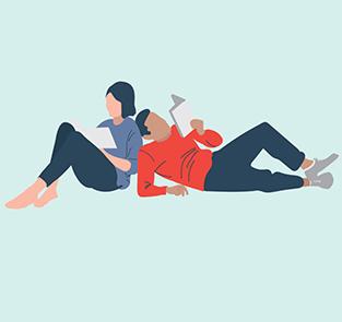 7724-Melbourne Writers Festival 2016 Illustration_Couple, Melbourne Writers Festival, On The List Melbourne